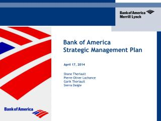 Bank of America  Strategic Management Plan