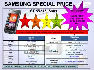 SAMSUNG SPECIAL PRICE