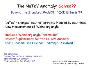 The NuTeV Anomaly:  Solved??