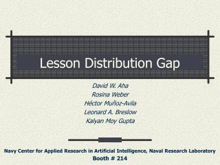 Lesson Distribution Gap