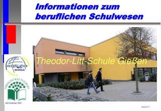 Informationen zum  beruflichen Schulwesen
