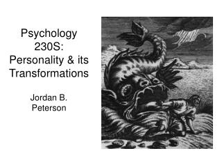 Psychology 230S: Personality & its Transformations