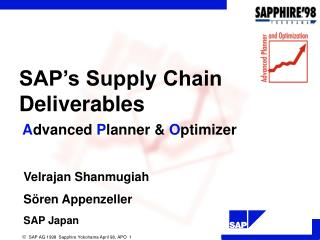SAP's Supply Chain Deliverables
