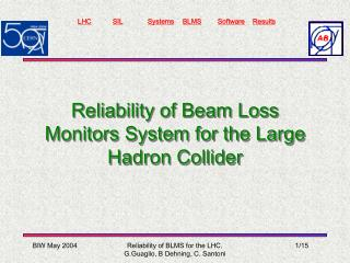 Reliability of Beam Loss Monitors System for the Large Hadron Collider