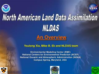 North American Land Data Assimilation  NLDAS
