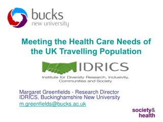 Meeting the Health Care Needs of the UK Travelling Population