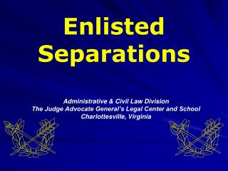 Enlisted Separations