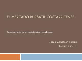 El mercado bursátil costarricense