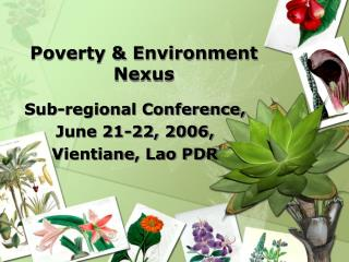 Poverty & Environment Nexus