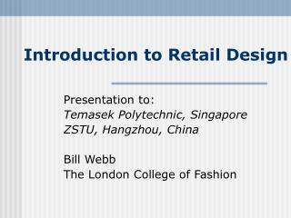Introduction to Retail Design
