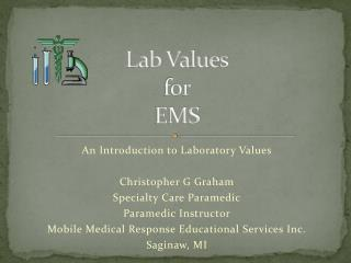 Lab Values for EMS