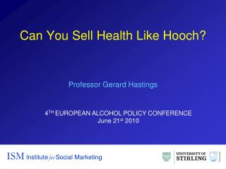 Can You Sell Health Like Hooch?