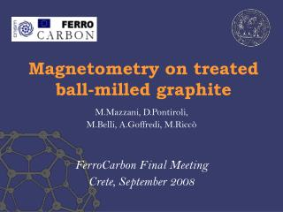 Magnetometry on treated ball-milled graphite