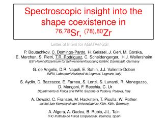 Spectroscopic insight into the shape coexistence in  76,78 Sr,  (78),80 Zr