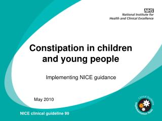 Constipation in children and young people