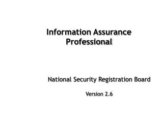 Information Assurance Professional
