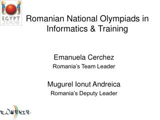 Romanian National Olympiads in Informatics & Training