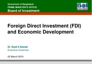 Foreign Direct Investment (FDI) and Economic Development