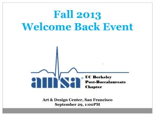 Fall 2013 Welcome Back Event