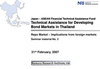 Repo Market – Implications from foreign markets Seminar material No. 2