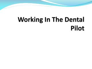Working In The Dental Pilot