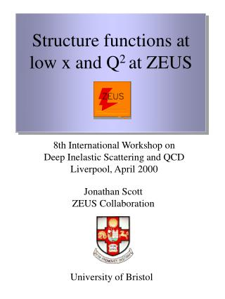 Structure functions at low x and Q 2  at ZEUS