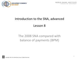 Introduction to the SNA, advanced Lesson 8