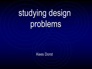 studying design  problems
