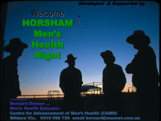 Welcome HORSHAM Men's Health Night