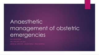 Anesthetic Management of the Patient with Preeclampsia
