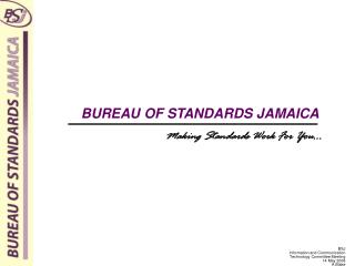 BUREAU OF STANDARDS JAMAICA