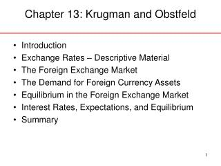 Chapter 13: Krugman and Obstfeld