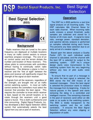 Best Signal Selection