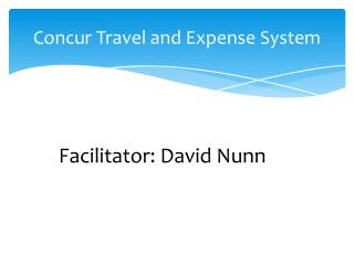 Concur Travel and Expense System