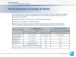 Travel Insurance Coverage & Claims