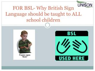 FOR BSL- Why British Sign Language should be taught to ALL school children