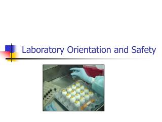 Laboratory Orientation and Safety
