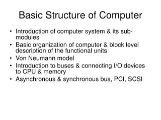 Basic Structure of Computer
