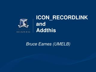 ICON_RECORDLINK and  Addthis