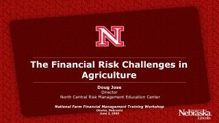 The Financial Risk Challenges in Agriculture