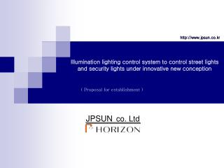 Illumination lighting control system to control street lights and security lights under innovative new conception