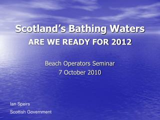 Scotland's Bathing Waters