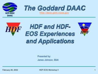 The Goddard DAAC daac.gsfc.nasa