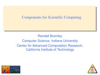 Components for Scientific Computing