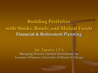 Building Portfolios with Stocks, Bonds, and Mutual Funds  Financial & Retirement Planning