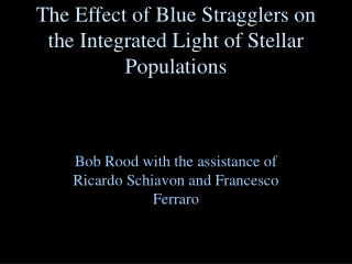 The Effect of Blue Stragglers on the Integrated Light of Stellar Populations