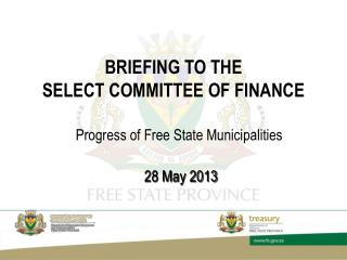 BRIEFING TO THE  SELECT COMMITTEE OF FINANCE