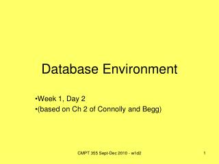 Database Environment