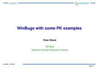 WinBugs with some PK examples