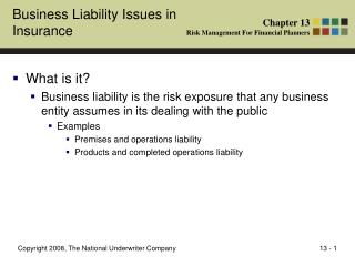 Business Liability Issues in Insurance